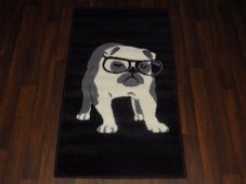 Modern Aprox 4x2 60cmx110cm Novelty Bulldog New Rug Woven Backed Nice Mats